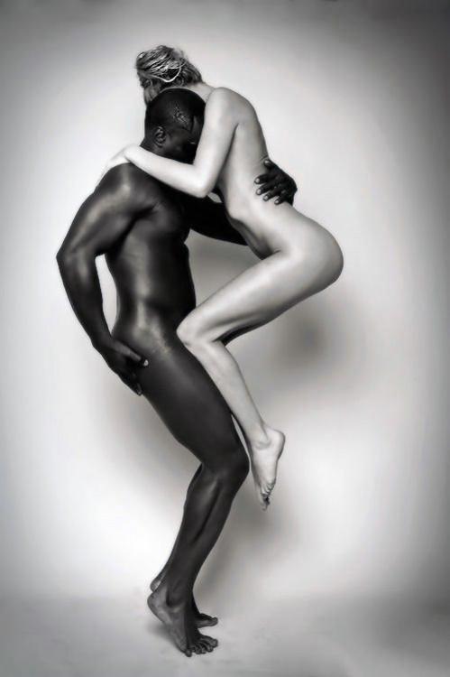 Retro Interracial Photo