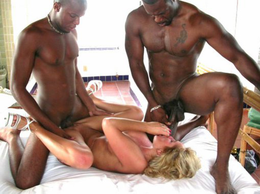 Black Threesome Sex Photos