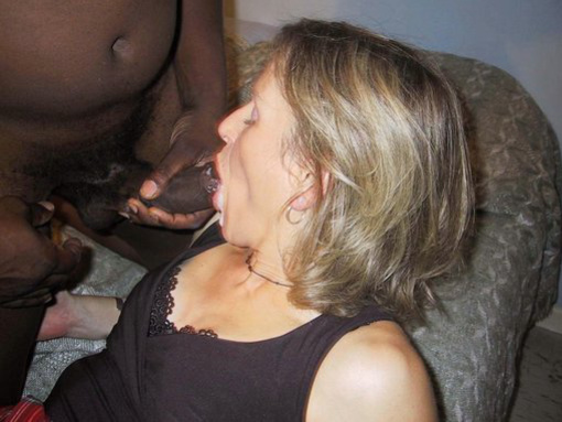 cock wives black Amateur sucking white