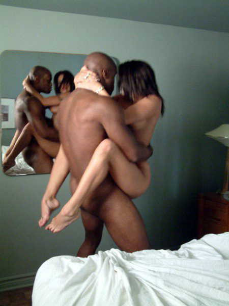 A boy and two girls having sex
