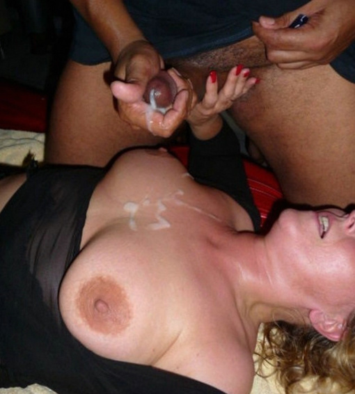 Black On White Cumshot Photo Gallery