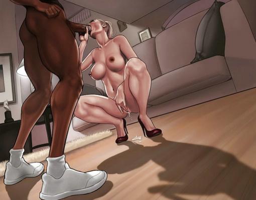 blonde milf interracial cartoon - Interracial Cartoon XXX Photo