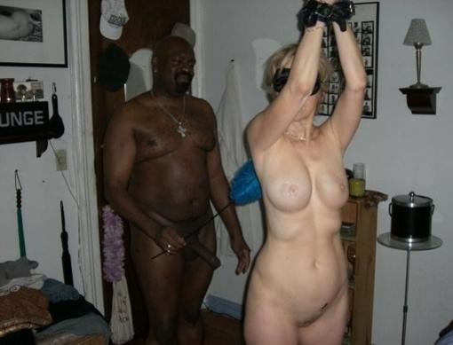Blindfolded naked men
