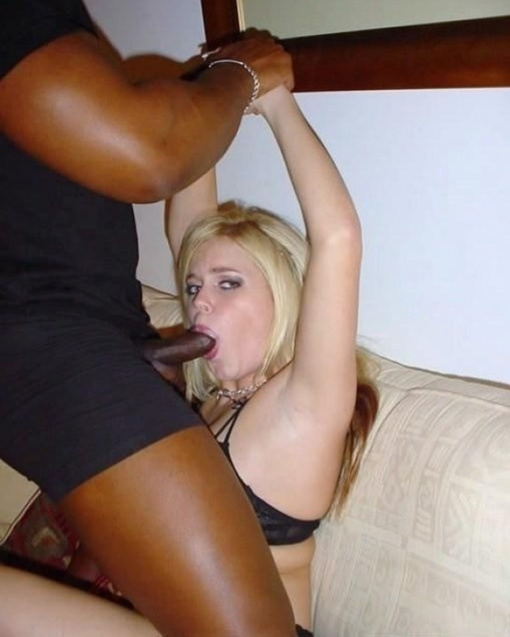 Blonde slut big black cock