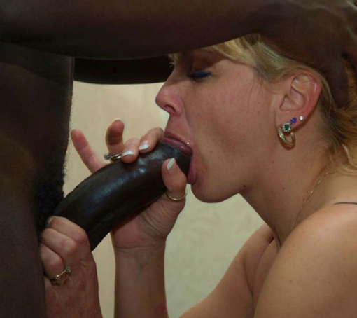 Black Mature Sucking Cock
