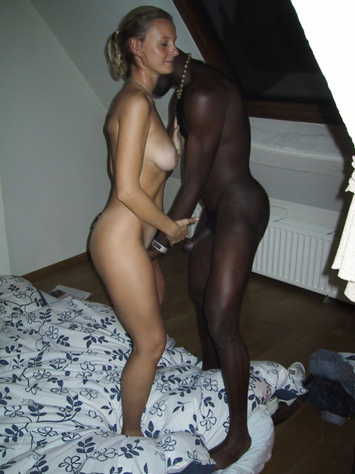 Interracial make out and sex