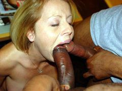 Blonde Teen First Gangbang With Black Studs Pics