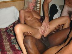 Black Cock Over White Pussy Photos