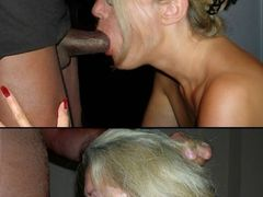 Amateur Interracial Pictures of White Blonde Mom Sucking BBC