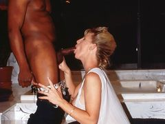 Interracial Dick Sucking Photo of Blonde Wife with BBC