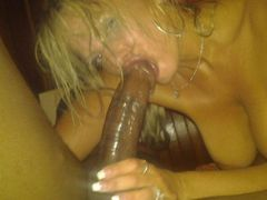 Blonde Slut Picture Sucking Big Black Cock