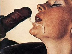 White Lady Cum Covered with Black Jizz - Interracial Pictures