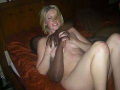 Photo Hot Blonde Pussy Shared for Sex with Black Dude