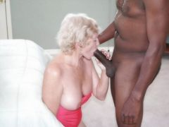 Picture Sexy Nude Granny Blowing a Big Black Dick