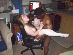 Interracial Picture Slutty White Girlfriend with Black Lover
