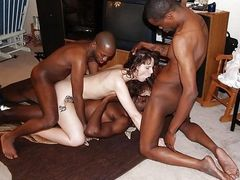 Interracial Sex Orgy with Black Men and White Woman - Cuckold Pictures