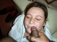 Photo Getting that Warm Thick Black Jizz on Her Cute Face