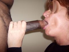 Photo Mature Sucking Juicy Black Cock