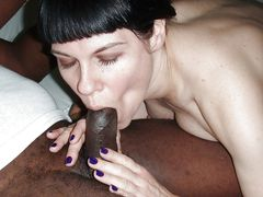 Photo Closeup Interracial Oral Sex