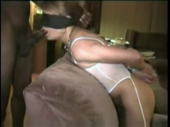 Blindfolded White Mom Tricked To Suck Black Cock Friend