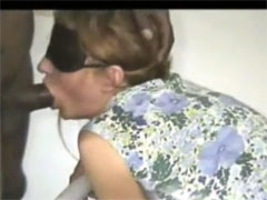 Wife Blindfolded and Tricked to Suck Big Black Cock