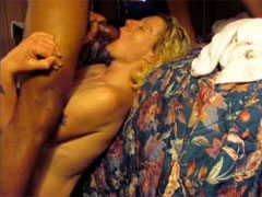 Amateur Husband Catches Wife Sucking Black Cock