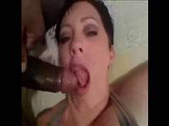Slutty Short Haired White Wife Getting The Taste Of First Black Cock