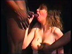 White Girl Taking With Pleasure Two Black Cocks