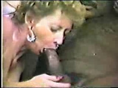 Vintage Black Cock In White Mouth
