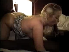 Blonde Married Woman Gangfucked by a Team of Big Black Cocks