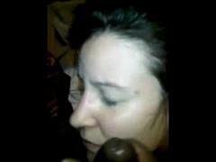 Cum Loving White Slut Receives a Massive Black Jizz on Face