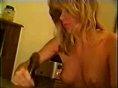 White Miss Getting Along with Black Cock in Home Made Video