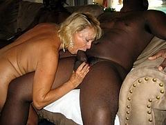 Husband Takes Pics While Wife Takes On Huge Black Cocks