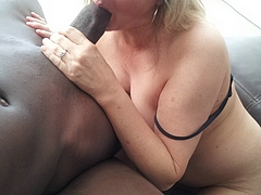 White and Black Cock Blowjob Photo
