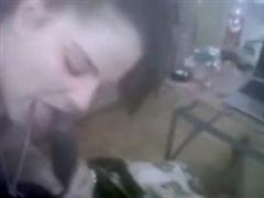 Slutty White Girl Eats the Cum of Black Boyfriend
