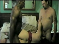 Wife Shared by Husband with Black Man in Interracial Threesome