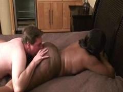 Big White Boy Licking Big Ass Pussy of Black Woman