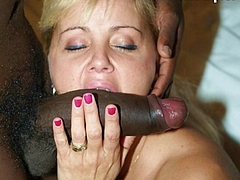 Sucking Big Black Cock on Picture Camera