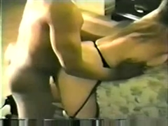 First Black Cock for White Wife in Retro Interracial Video