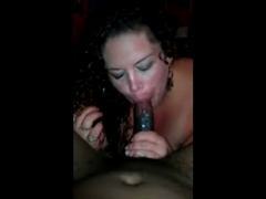 Black Penis Getting Sucked Hard by White Woman