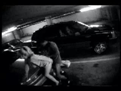 Hidden Camera in Car Parking Caught Interracial Couple Fucking
