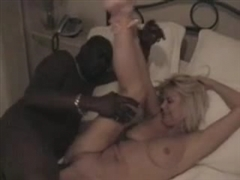 Interracial Blonde Fuck Video of Wife with Black Man