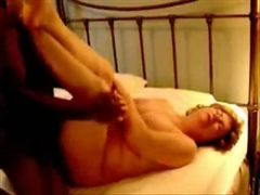 Black Friend on White Mature Mom Fucking Her on Birthday