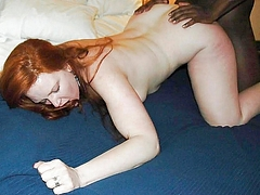 Interracial Sex Photo of Redhead Woman Fucked by Black Man