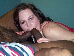 Sucking Two Dicks Photo of Mature Woman with Blacks