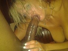 Blonde Slut Picture Sucking Big Black Cock