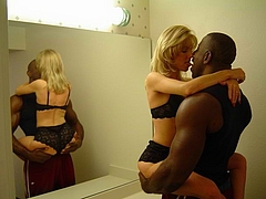Kissing and Preparing to Make Sex with Black Friend - Interracial Pictures