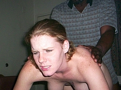 White College Chick Fucked from Behind by Old Black Man - Sex Pictures