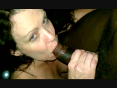 Two White Women Sucking on Same Black Dick
