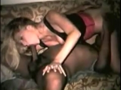 Blonde Girl Sucking a Cock of Black Man with So Much Passion